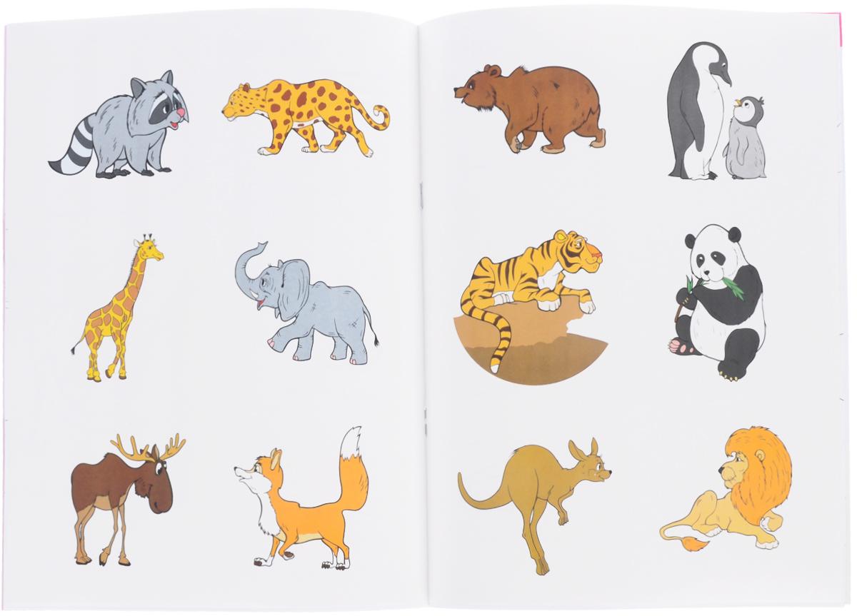 Развивающие картинки диких животных